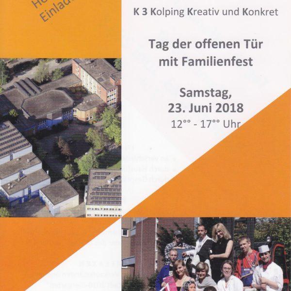 """""""Tag Der Offenen Tür Mit Familienfest"""" Kolping-Berufsbildungswerk Essen Feiert In Diesem Jahr Sein 40-jähriges Bestehen"""